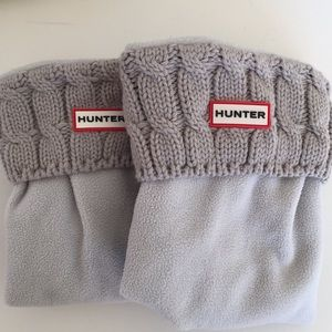 Hunter Gray cable knit boot liners